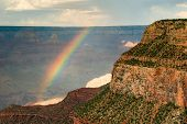 image of grand canyon  - Rainbow over a canyon Grand Canyon Grand Canyon National Park Arizona USA - JPG
