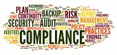 picture of financial audit  - Compliance and audit in word tag cloud on white - JPG