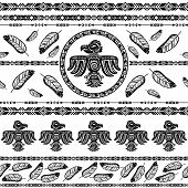 pic of indian culture  - Indian tribal abstract pattern background vector illustration - JPG