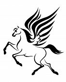 foto of pegasus  - black pegasus horse with wings - JPG