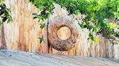 pic of yucatan  - Stone Mayan hoop on Yucatan peninsula Mexico - JPG
