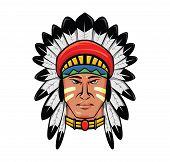 stock photo of apache  - apache head Editable  - JPG