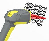 pic of barcode  - 3d generated picture of a barcode reader - JPG
