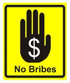 picture of corruption  - Concept sign to fight against bribes and corruption - JPG