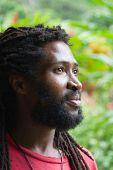 pic of rastafari  - Portrait of African man with dreadlocks - JPG