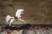 pic of wooden horse  - Vintage  - JPG