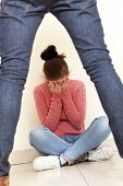stock photo of domestic violence  - Concept photo of domestic violence - JPG