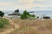 picture of luzon  - Christian Chapel on Rock Island in the ocean near Vigan on Luzon Island in the Philippines