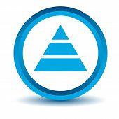 stock photo of pyramid  - Blue pyramid icon on a white background - JPG