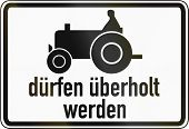 picture of passed out  - German traffic sign additional panel to specify the meaning of other signs - JPG