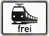 foto of railroad-sign  - German traffic sign additional panel to specify the meaning of other signs - JPG