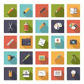 pic of shapes  - Art and design flat icon vector collection - JPG