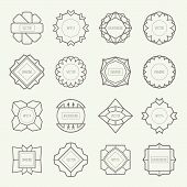 image of outline  - Set of outline emblems and badges - JPG