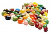 picture of jelly beans  - fruit jelly beans heart - JPG