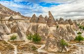 stock photo of phallus  - Fairy tale chimney rocks in Pasabg  - JPG