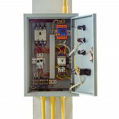 foto of fuse-box  - close up electronic control box with clipping path - JPG