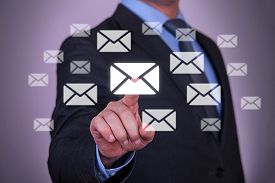 image of touching  - Touch Email business email internet computer mail touch screen - JPG