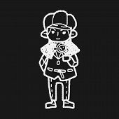 picture of private detective  - Detective Doodle - JPG