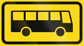 pic of motor-bus  - Road sign 531 in Finland  - JPG