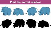 image of rhino  - Game for children - JPG