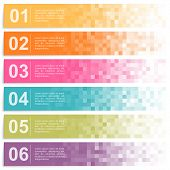 picture of colorful banner  - Set of colorful pixel banners - JPG