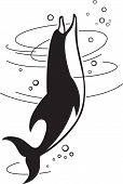 stock photo of porpoise  - Vector illustration of the jumping dolphin - JPG