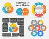 picture of diagram  - Vector infographics set of circle diagrams - JPG