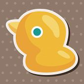 picture of baby duck  - Baby Toy Duck Theme Elements - JPG