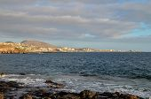 image of canary  - Sea Village at the Spanish Canary Islands.
