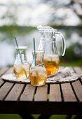 stock photo of iced-tea  - Ice tea with mint leaves - JPG