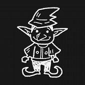 pic of elf  - Elf Doodle - JPG