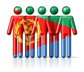 picture of eritrea  - Flag of Eritrea on stick figure  - JPG