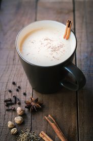 picture of cardamom  - masala chai with spices - JPG