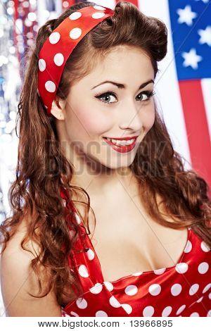 Smiling Pinup girl