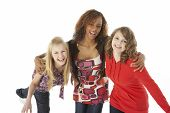 foto of teenage girl  - Portrait Of Three Teenage Girls - JPG