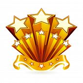 stock photo of gold medal  - Gold emblem - JPG