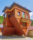 Постер, плакат: Inverted Home In Carpathian
