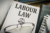 Labour Or Labor Law Book. Legislation And Justice Concept. poster