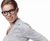 pic of young women  - business woman in glasses - JPG