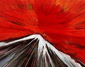 Постер, плакат: Оригинал абстрактных нефти живописи Красная гора