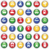 picture of traffic sign  - Transportation set of different web icons - JPG