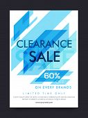 Clearance Sale Poster, Sale Banner, Sale Flyer, 60% Off on every brands, Limited Time Sale, Creative poster