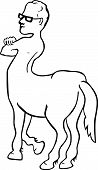 picture of centaur  - Funny picture of centaur on white background - JPG