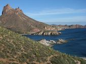 stock photo of cortez  - Where the mountains and desert meet the ocean - JPG