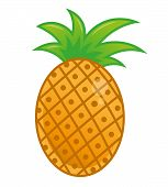 Icons Element Subject Good Summer Very Big And Fresh Delicious Tropical Fruit Pineapple Ananas In. M poster