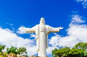 View On World Largest Jesus Christ Staue In Cochabamba - Bolivia poster