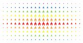 Christian Church Icon Spectrum Halftone Pattern. Vector Christian Church Objects Are Arranged Into H poster
