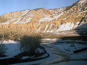 picture of amtrak  - view in Rockies out the window of Amtrak Zephyr - JPG