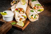 Stack Of Wrap Sandwiches poster