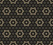 Vector Golden Seamless Pattern. Luxury Black And Gold Abstract Ornamental Texture. Dark Ornate Backg poster